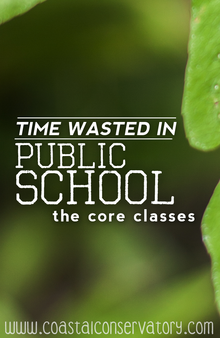 time wasted in schools core classes