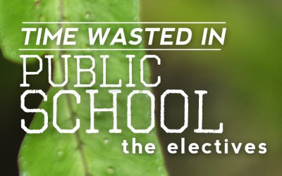 Time Wasted In School: The Electives