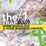 The #1 Trap Both Homeschoolers and Home Business Owners Fall Into