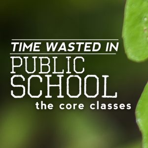 Time Wasted In School: The Core Classes