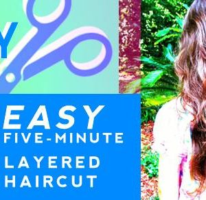 Easy Five-Minute Layered Haircut